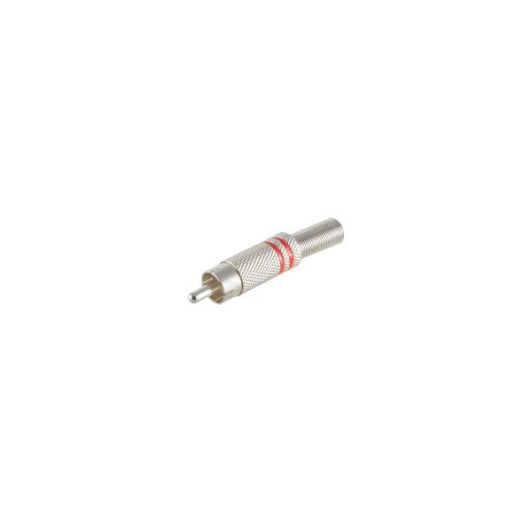 Conector RCA macho metálico 6mm rojo