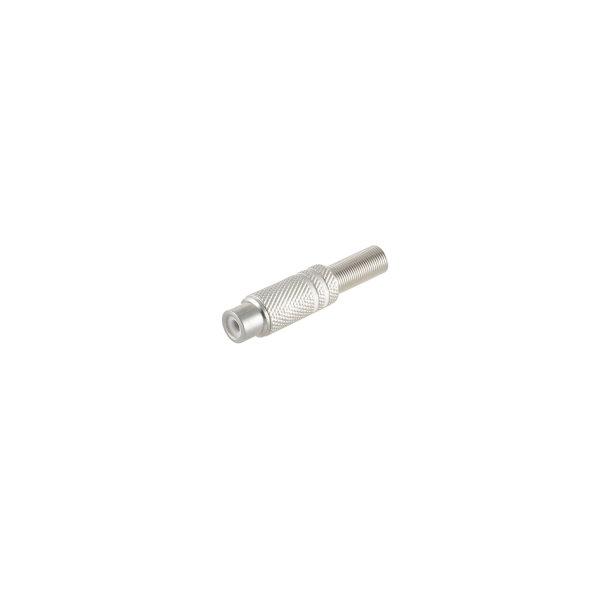 Conector RCA hembra metálico 6mm blanco