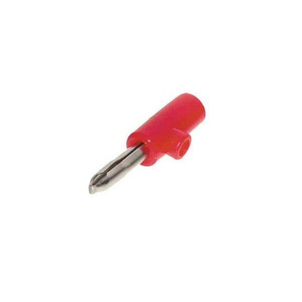 Conector de banana macho rojo