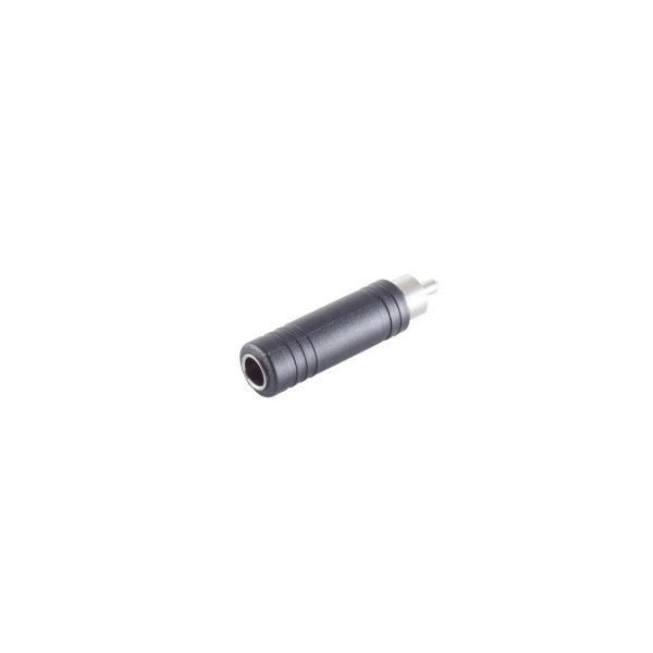 Conector adaptador - RCA macho a 6,3mm jack hembra mono