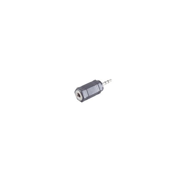 Conector adaptador - 2,5mm jack estéreo macho a 3,5mm jack estéreo hembra