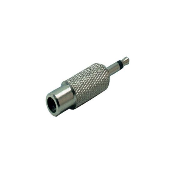 Conector adaptador - 3,5mm jack mono macho  a conector RCA hembra - metálico
