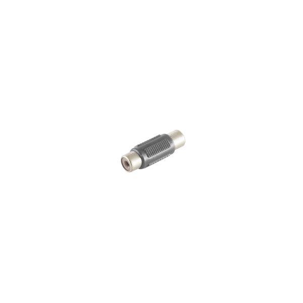 Conector adaptador - RCA hembra a RCA hembra negro