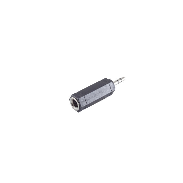 Conector adaptador - 3,5mm jack estéreo macho a 6,3mm jack estéreo hembra