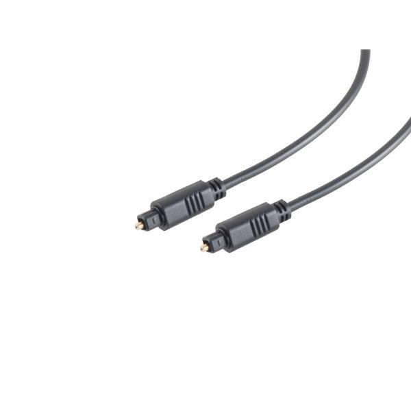 Cable Óptico TosLink - 4mm - conector TosLink a TosLink  0,5m