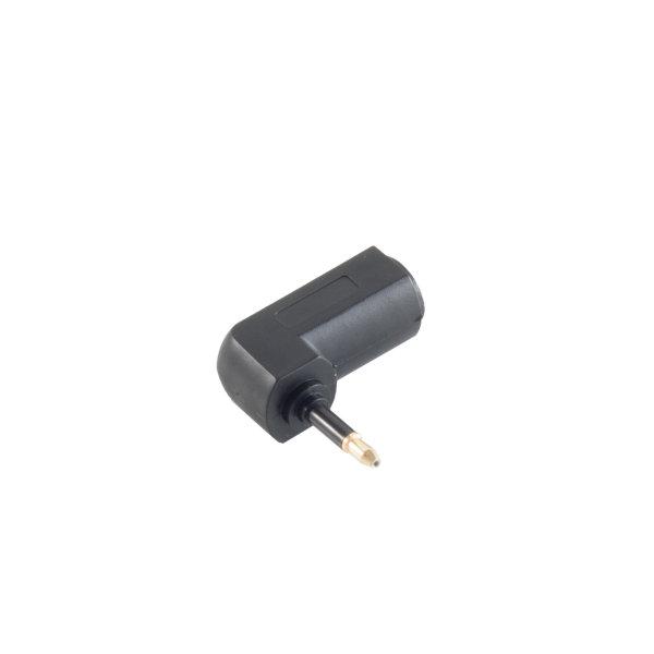 Adaptador TosLink - Conector TosLink acodado hembra a 3,5mm Mini TosLink macho