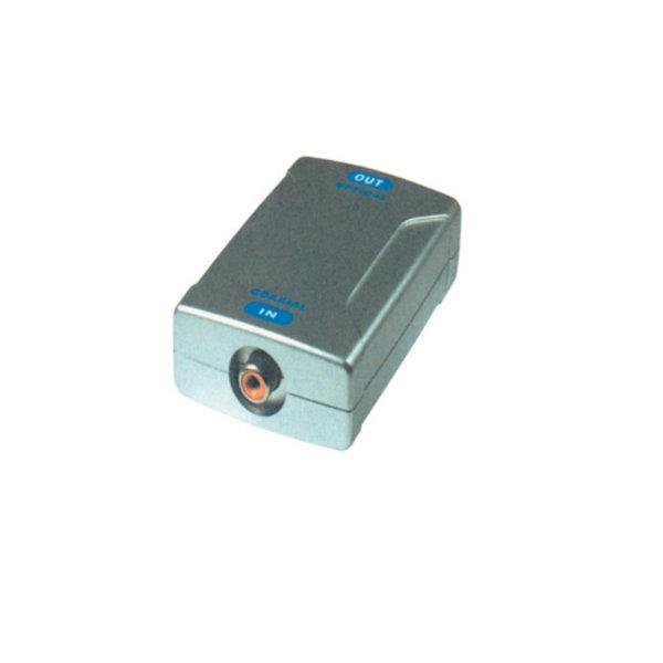 Convertidor de señal de audio - Entrada RCA hembra - salida TosLink hembra