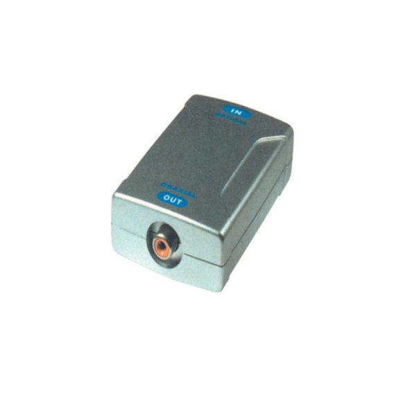Convertidor de señal de audio - Entrada TosLink hembra - salida RCA hembra