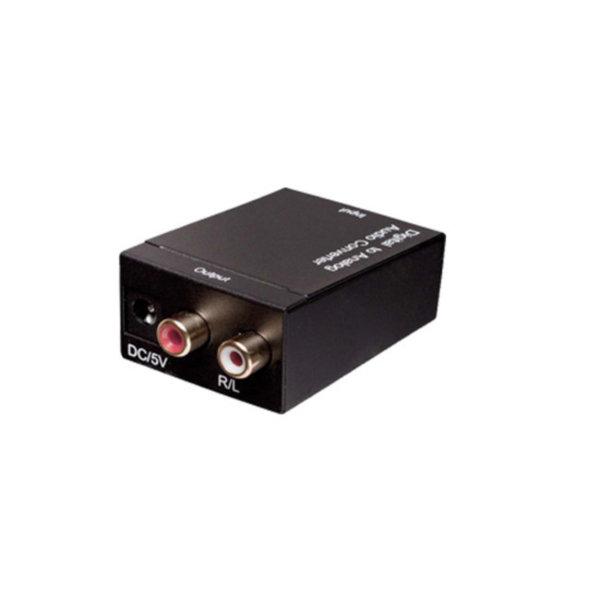 Convertidor de audio digital/analógico - Entrada TosLink o Coaxial hembra - salida RCA hembra
