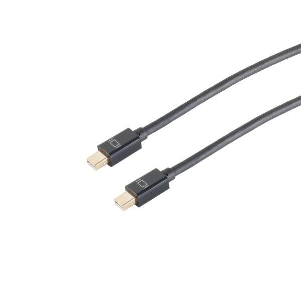 Cable Displayport - MINI Conector 1.2  macho a macho  UHD 4K2K  negro  1m
