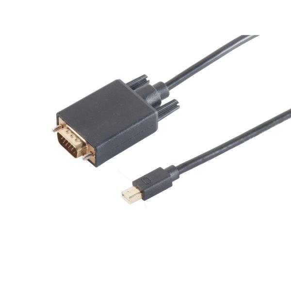 Cable Displayport - Conector Mini Displayport  1.2 a VGA negro   1m