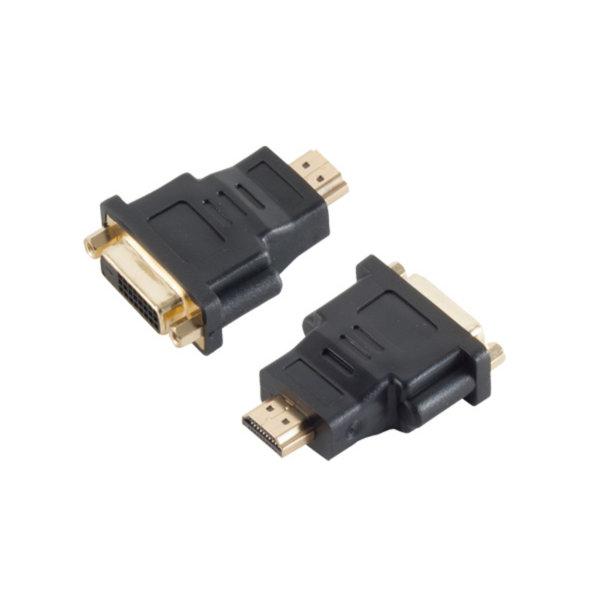 Adaptador HDMI/DVI - Conector  HDMI macho a DVI-D (24 + 1)hembra - contactos chapados en oro - compatible con 4K2K