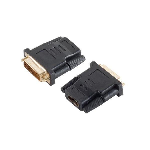 Adaptador HDMI/DVI - Conector HDMI hembra a DVI-D (24+1)macho - contactos chapados en oro - compatible con 4K2Kl