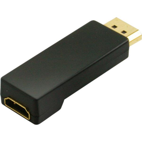 Adaptador Displayport/HDMI - Conector Displayportmacho a HDMI hembra - contactos chapados en oro - compatible con 4K2Kl