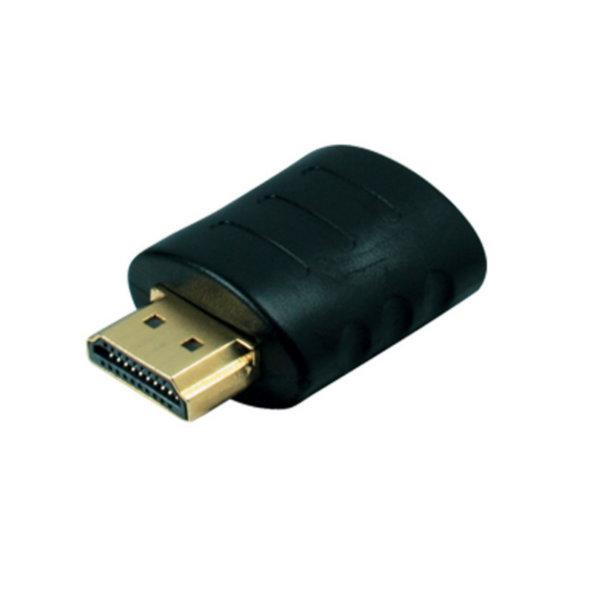 Adaptador HDMI - HDMI macho a HDMI hembra - contactos chapados en oro - compatible con 4K2K
