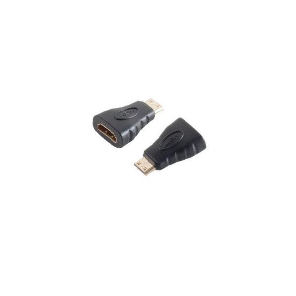 Adaptador HDMI- Conector HDMI A hembra a HDMI C macho - contactos chapados en oro - compatible con 4K2K