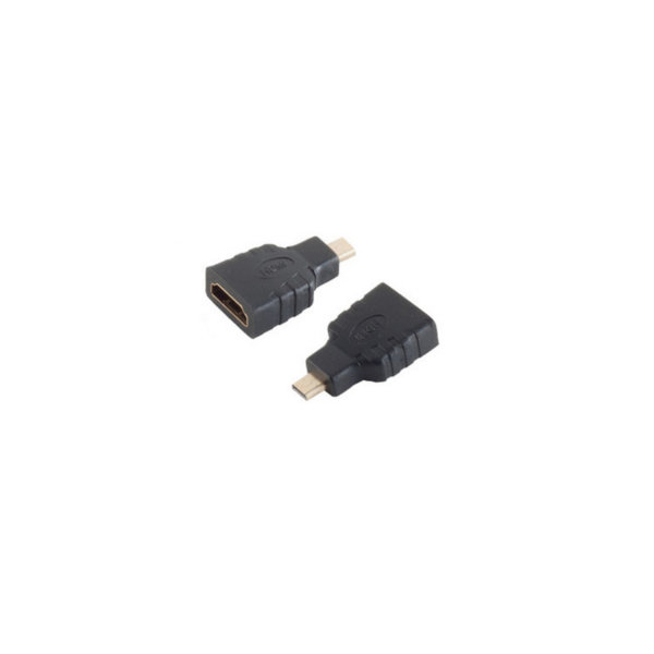 Adaptador HDMI - Conector HDMI-A hembra a HDMI-D micro macho compatible con 4K2Kl