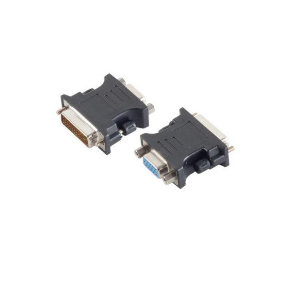 Adaptador DVI/VGA - Conector DVI-I (24+5) Dual-Link macho a VGA hembra