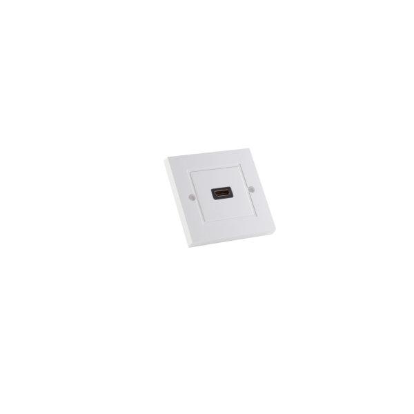 Enchufe de pared HDMI - Caja de pared con 1 conector HDMI