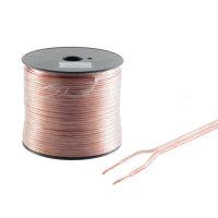 Cable de altavoz - 2x0,75mm²  transparente  bobina...