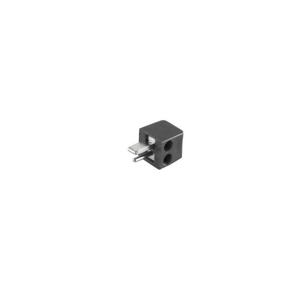 Conector altavoz - macho atornillable  versión pequeña negro