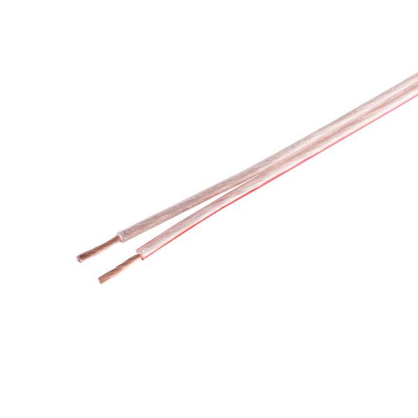 Cable de altavoz - 0,75mm² 24x0,2 CCA transparente  10m