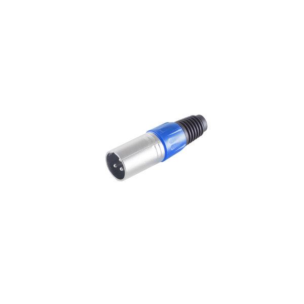 Conector XLR - macho azul