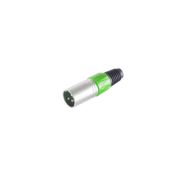 Conector XLR - macho verde