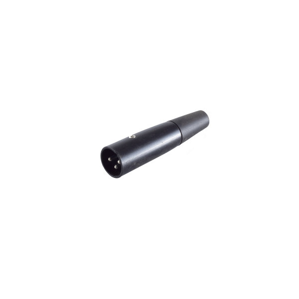 Conector XLR - macho carcasa negra