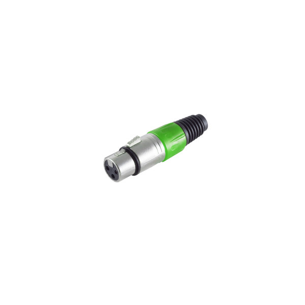 Conector XLR - hembra, verde