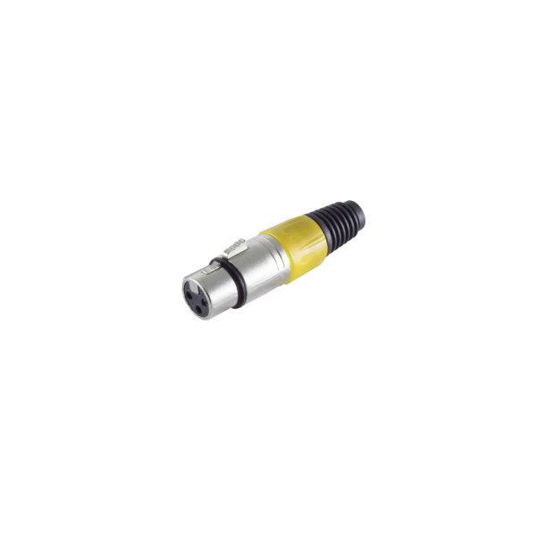 Conector XLR - hembra, amarillo
