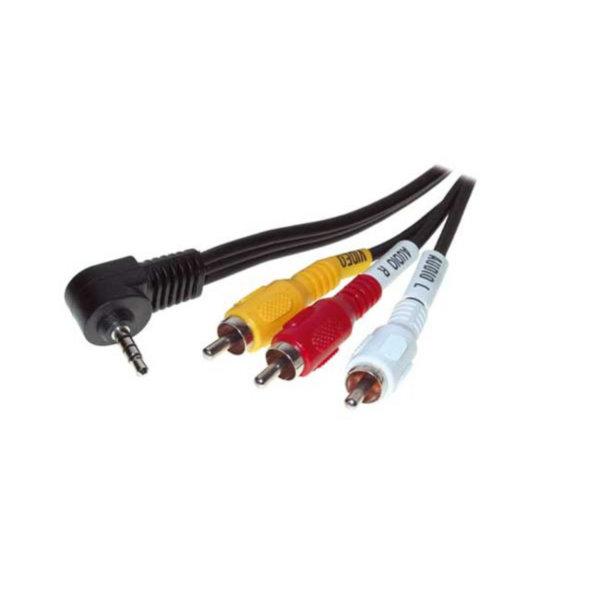 Cable Jack/RCA - Conector Jacj macho anulado 6,3mm 4-pol. a 3 RCA macho  1,5m