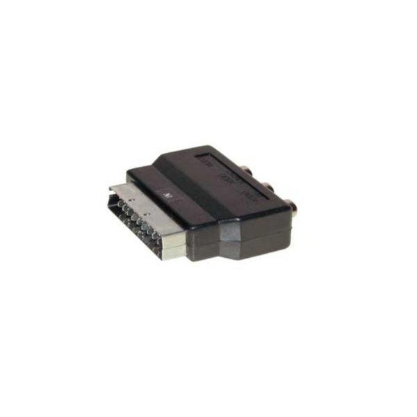 Conector Scart/RCA - Conector audio Scart macho a 3 RCA hembra ENTRADA