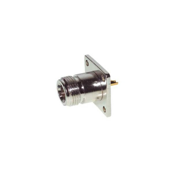 Conector N - Conector N hembra para empotrar  fijación de brida