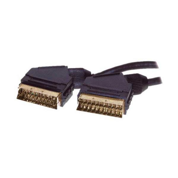 Cable Scart - Conector Scart macho a conector Scart macho - cable de control - chapados en oro  1,5m