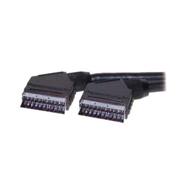 Cable Scart - Conector Scart macho a Scart macho tipo U  2m