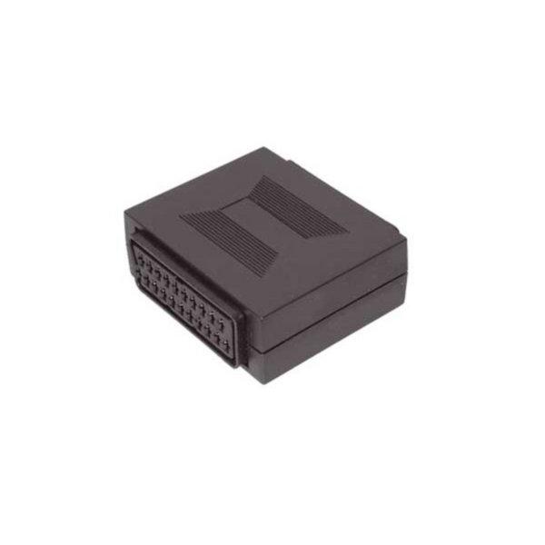 Adaptador Video/ Audio - Interconector Scart - Scart hembra a Scart hembra