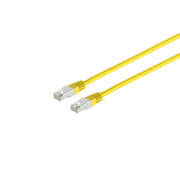 Cable de red RJ45 CAT 5e F/UTP  amarillo  0,5m