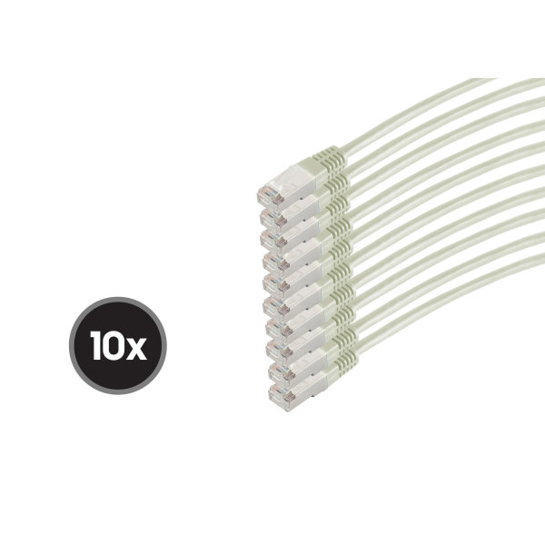 Cable de red RJ45 CAT 6  S/FTP  PIMF  libre de halógenos (10 Unidades)  1m