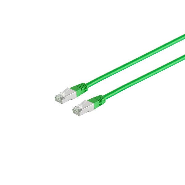 Cable de red RJ45 CAT 6 S/FTP PIMF libre de halógenos verde  0,25m