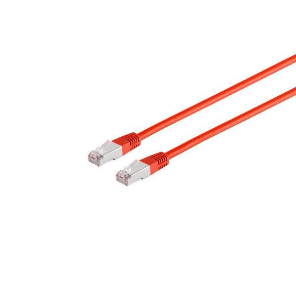 Cable de red RJ45 CAT 6 S/FTP PIMF libre de halógenos rojo  0,25m