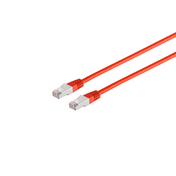 Cable de red RJ45 CAT 6 S/FTP PIMF libre de halógenos rojo, 5m