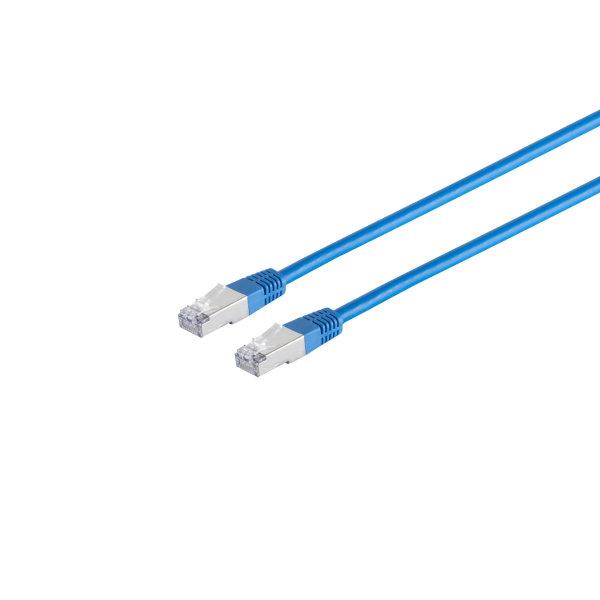 Cable de red RJ45 CAT 6 S/FTP PIMF libre de halógenos azul, 30,0m
