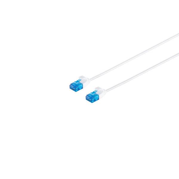 Cable de red RJ45 CAT 6 U/UTP slim  blanco  0,5m