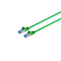 Cable de red RJ45 CAT 6A S/FTP PIMF verde 0,25m