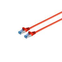 Cable de red RJ45 CAT 6A S/FTP PIMF rojo 0,5m