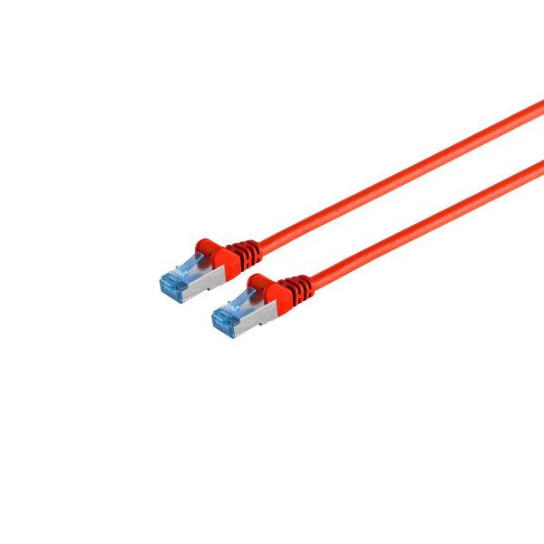 Cable de red RJ45 CAT 6A S/FTP PIMF rojo 1m