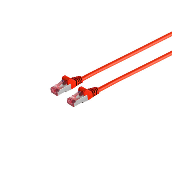 Cable de red RJ45 CAT 6A S/FTP PIMF libre de halógenos certificación GHMT rojo 10m