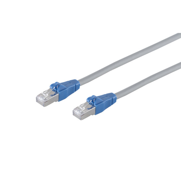 Cable de red RJ45 CAT 6A Easy Pull gris 2m