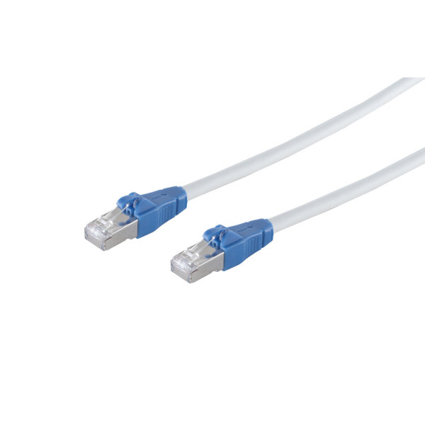Cable de red RJ45 CAT 6A Easy Pull blanco 1,5m